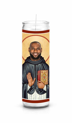 Lebron James Los Angeles LA Lakers Saint Celebrity Prayer Candle