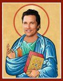 unny Matthew McConaughey celebrity prayer candle novelty gift