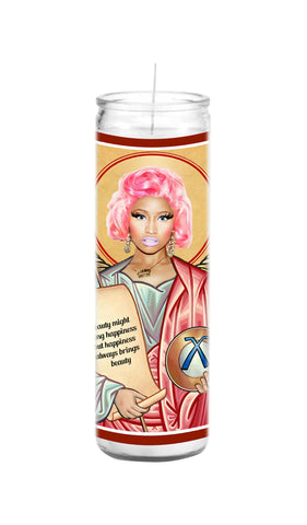 nicki minaj celebrity prayer candle funny gift