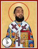 Nipsey Hussle RIP Saint Celebrity Prayer Candles