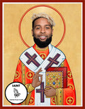 Odell Beckham Jr Cleveland Browns Saint Celebrity Prayer Candles