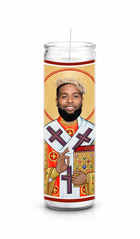 Odell Beckham Jr Cleveland Browns Saint Celebrity Prayer Candle