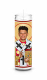 Patrick Mahomes Kansas City Chiefs Saint Celebrity Prayer Candle