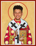Patrick Mahomes Kansas City Chiefs Saint Celebrity Prayer Candle Gift