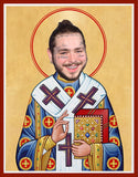 funny Post Malone celebrity prayer candle novelty gift