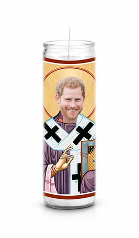 Prince Harry Saint Celebrity Prayer Candle Gift