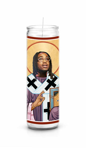 Quavo Migos celebrity prayer candle novelty gift