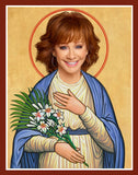 funny saint Reba McEntire celebrity prayer candle novelty gift