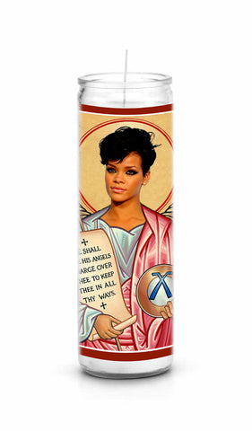 Rihanna Bad Girl RiRi Saint Celebrity Prayer Candle Gift