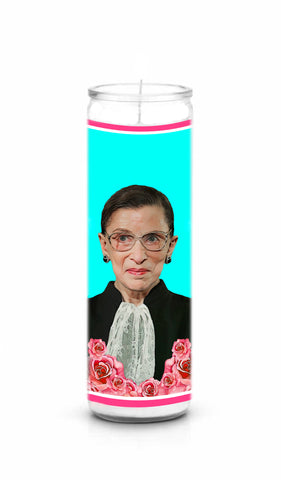 Ruth Bader Ginsburg RBG Saint Celebrity Prayer Candle