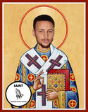 Steph Curry Golden State Warriors Funny Novelty Saint Celebrity Prayer Candles Gifts