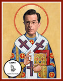 Stephen Colbert Funny Novelty Saint Celebrity Prayer Candles Gifts
