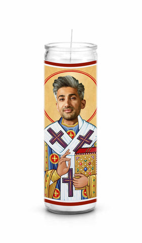 Tan France Queer Eye Fab Five Funny Novelty Saint Celebrity Prayer Candle Gift