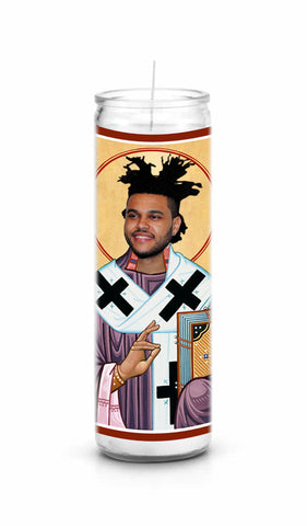 The Weeknd celebrity prayer candle novelty gift