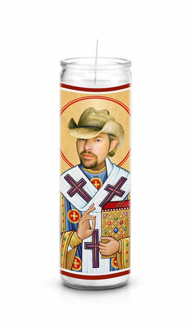 Toby Keith Saint Celebrity Prayer Candle