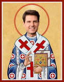 funny Tom Cruise celebrity prayer candle novelty gift