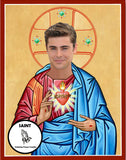 Zac Efron celebrity prayer candle gift