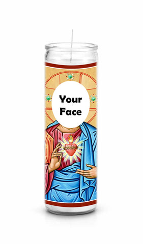 Custom Personalized Personal Saint Celebrity Prayer Candle