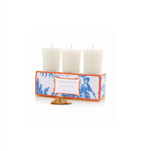 SEDA FRANCE French Tulip Classic Toile Votive Candles