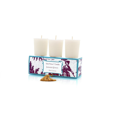 SEDA FRANCE Japanese Quince Classic Toile Votive Candles