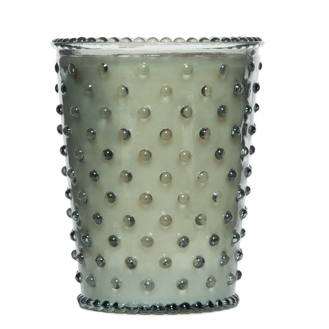 SIMPATICO NO. 17 FERN HOBNAIL GLASS CANDLE