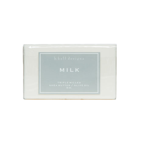 K. HALL DESIGNS MILK TRIPLE MILLED BAR SOAP