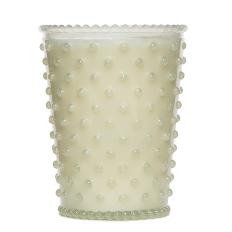SIMPATICO NO. 42 WHITE FLOWER HOBNAIL GLASS CANDLE