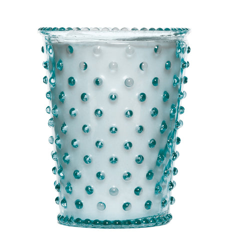 SIMPATICO NO. 77 RAIN HOBNAIL GLASS CANDLE