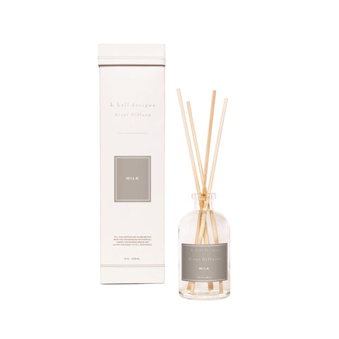K. HALL DESIGNS MILK SCENT DIFFUSER KIT