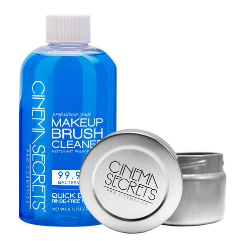 CINEMA SECRETS PROFESSIONAL MAKEUP BRUSH CLEANER PRO STARTER KIT +TIN