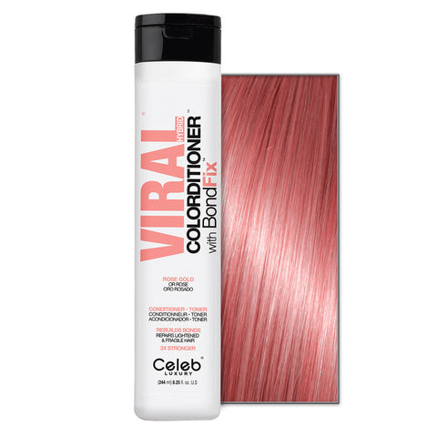 CELEB LUXURY VIRAL COLORDITIONER ROSE GOLD WITH BONDFIX
