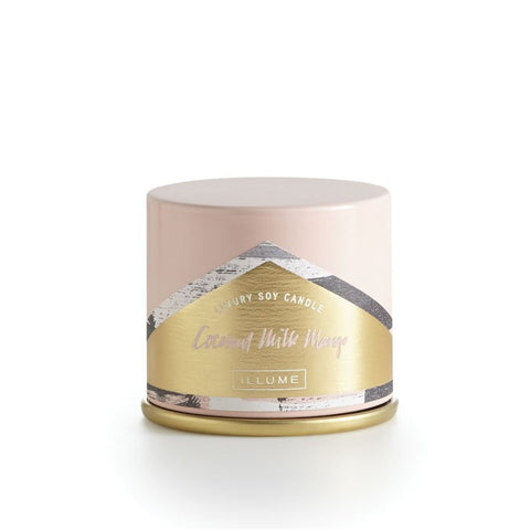 ILLUME LUXURY SOY CANDLE DEMI Vanity Tin - COCONUT MILK MANGO