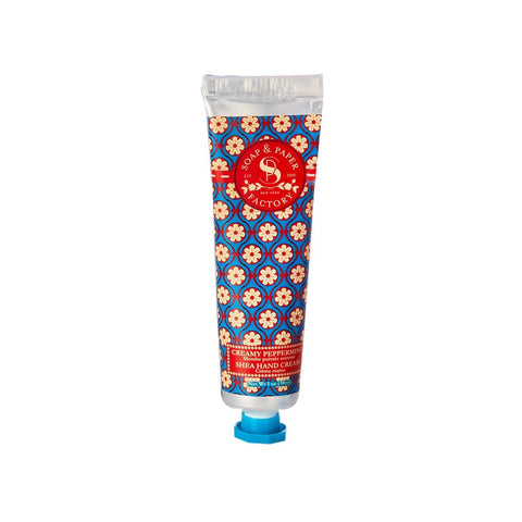 SOAP & PAPER FACTORY CREAMY PEPPERMINT PETITE HAND CREAM