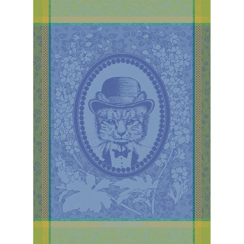 GARNIER-THIEBAUT FRANCE MONSIEUR CHAT BLEU KITCHEN TOWEL