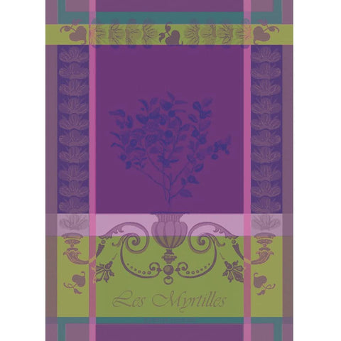 GARNIER-THIEBAUT FRANCE MYRTILLES VIOLET KITCHEN TOWEL