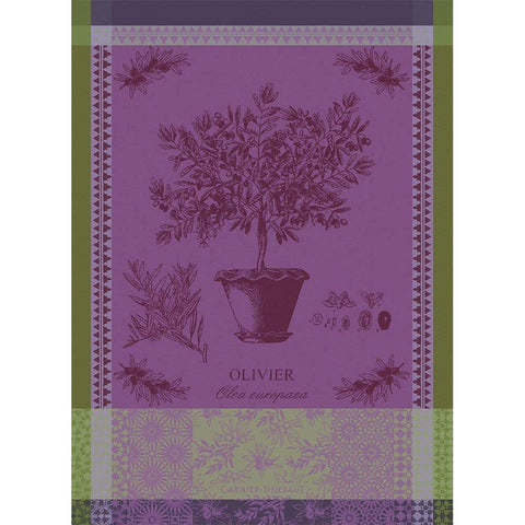 GARNIER-THIEBAUT FRANCE OLIVIER EN POT PARME KITCHEN TOWEL