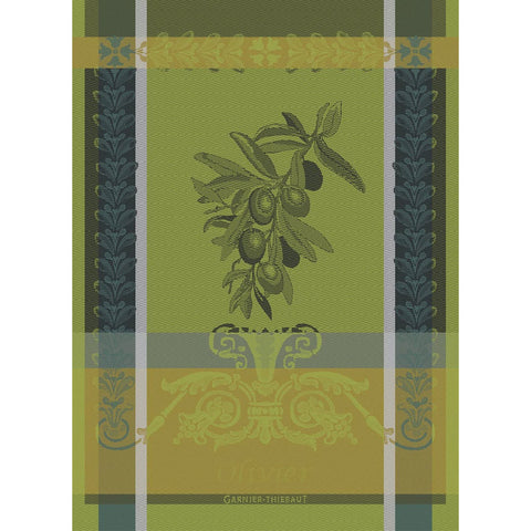 GARNIER-THIEBAUT FRANCE OLIVIER VERT BRUMEUX KITCHEN TOWEL