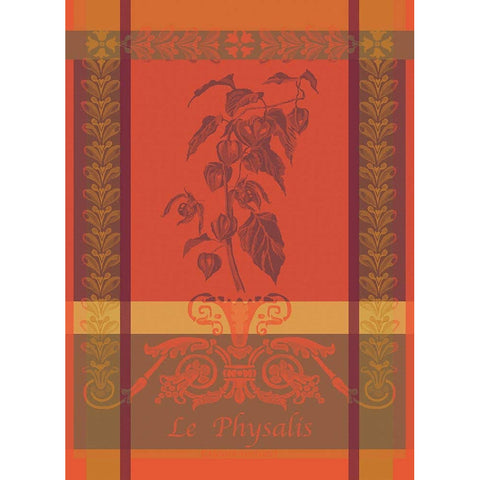 GARNIER-THIEBAUT FRANCE PHYSALIS ROUILLE KITCHEN TOWEL