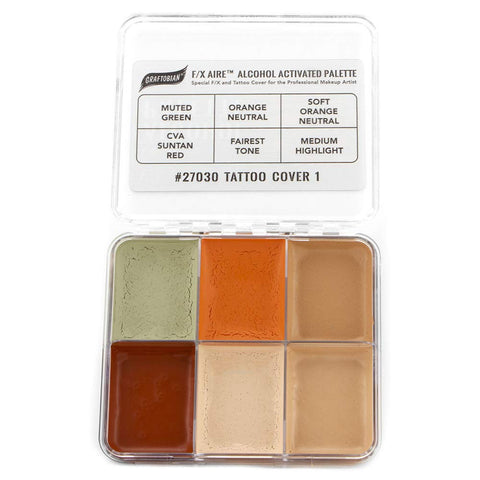 GRAFTOBIAN F/X AIRE ALCOHOL PALETTES TATTOO COVER 1 - LIGHT