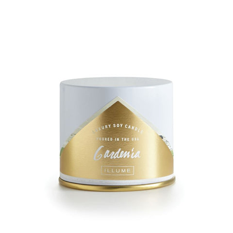 ILLUME LUXURY SOY CANDLE Vanity Tin - GARDENIA