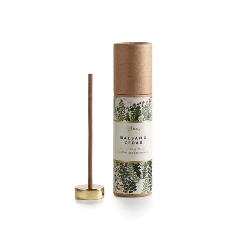 ILLUME Balsam & Cedar Incense Set