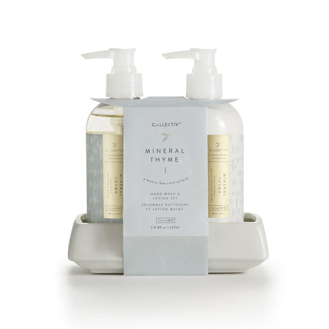 ILLUME COLLECTIV HAND WASH & LOTION SET - MINERAL THYME