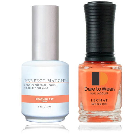 LECHAT Perfect Match PEACH BLAST Gel Polish & Nail Lacquer
