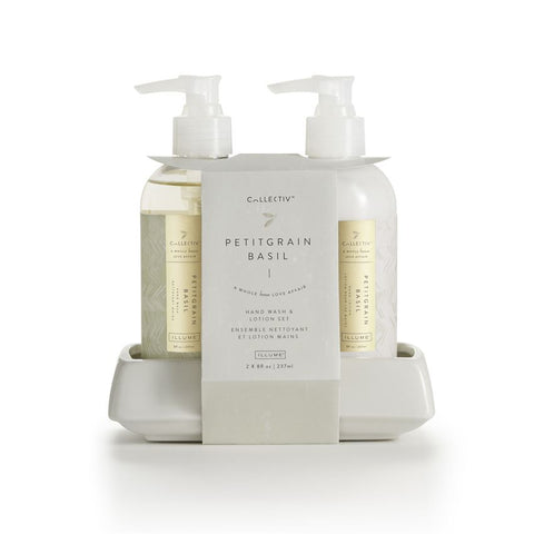 ILLUME COLLECTIV HAND WASH & LOTION SET - PETITGRAIN BASIL