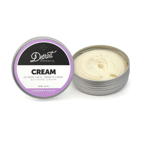 DETROIT GROOMING CO DEFINING HAIR CREAM - EXTREME HOLD CREAM FOR MEN