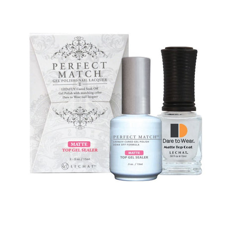 LECHAT Perfect Match MATTE TOP GEL SEALER Gel Polish & Nail Lacquer