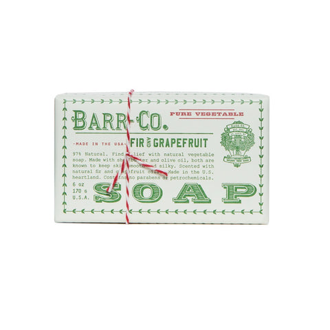 BARR-CO. FIR & GRAPEFRUIT TRIPLE MILLED BAR SOAP