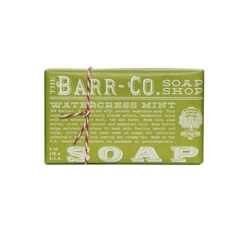 BARR-CO. WATERCRESS MINT TRIPLE MILLED BAR SOAP
