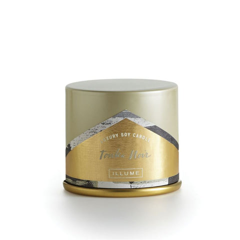 ILLUME LUXURY SOY CANDLE Vanity Tin - TONKA NOIR