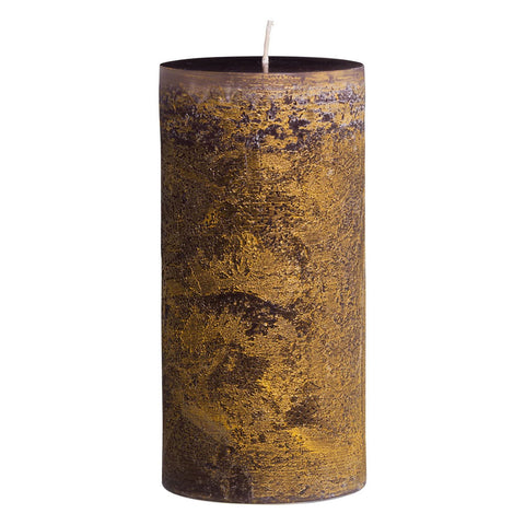 VANCE KITIRA RITZ TIMBER PILLAR CANDLE 3.75 X 9